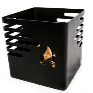 cesta de fuego nogal 1 en fondo blanco