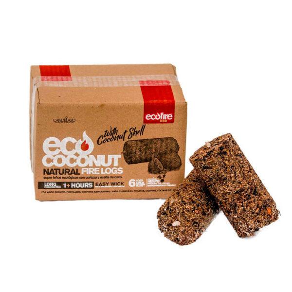 leños ecológicos de coco